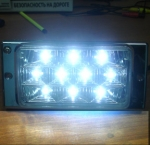 ПТФ для LADA 2110-2116 черного цвета со светодиодами. Код PL519D
