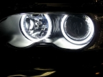 Комплект ангельских глазок неон BMW E46